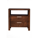 Alpine Furniture Austin Nightstand in Chestnut 1600-02