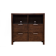 Alpine Furniture Austin Media Chest in Chestnut 1600-11