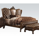 Acme Versailles Queen Bed in L.Brown PU/Cherry Oak 21100Q PROMO