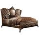 Acme Versailles King Bed in L.Brown PU/Cherry Oak 21097EK PROMO