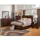 Alpine Furniture Austin 4-Piece Shelter Panel Bedroom Set in Chestnut