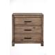 Alpine Furniture Sydney Nightstand in Weathered Grey 1700-02