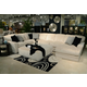 Jackson Furniture Everest 4pc Modular Sectional Living Room Set in Ivory