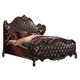 Acme Versailles Queen Bed in D.Brown PU/Cherry Oak 21120Q