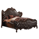 Acme Versailles King Bed in D.Brown PU/Cherry Oak 21117EK PROMO