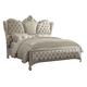 Acme Versailles Queen Bed in Ivory Velvet/Bone White 21130Q
