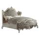 Acme Versailles King Bed in Vintage Gray PU/Bone White 21147EK PROMO