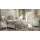 Acme Versailles 4-Piece Upholstered Bedroom Set in Vintage Gray PU & Bone White