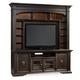 Hooker Furniture Treviso Entertainment Console w/ Hutch in Rich Macchiato 5374-70202