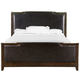 Magnussen Langham Place Queen Upholstered Sleigh Bed in Warm Chestnut