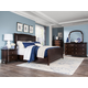 Magnussen Langham Place 4-Piece Upholstered Sleigh Bedroom Set in Warm Chestnut