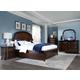 Magnussen Langham Place 4-Piece Storage Bedroom Set in Warm Chestnut