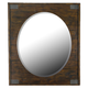Magnussen Pine Hill Portrait Oval Mirror in Rustic Pine B3561-43