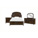 Magnussen Langham Place 4-Piece Panel Bedroom Set in Warm Chestnut