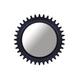 A.R.T. Epicenters Williamsburg Round Mirror in Black 223122-2618