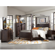Magnussen Pine Hill 4-Piece Canopy Bedroom Set in Rustic Pine