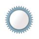 A.R.T. Epicenters Williamsburg Round Mirror in Blue 223122-2621
