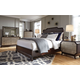 Magnussen Gramercy 4-Piece Panel Bedroom Set in Sable with Antique Silver
