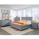 Magnussen Graylyn 4-Piece Panel Bedroom Set in Steel Drum
