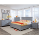 Magnussen Graylyn 4-Piece Storage Bedroom Set in Steel Drum