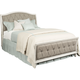 American Drew Southbury Queen Upholstered Panel Bed in Fossil and Parchment 513-313R