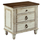 American Drew Southbury 3 Drawer Nightstand in Fossil and Parchment 513-420