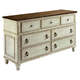 American Drew Southbury 7 Drawer Dresser in Fossil and Parchment 513-130