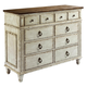 American Drew Southbury 8 Drawer Bureau in Fossil and Parchment 513-131