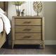 American Drew Evoke 3 Drawer Nightstand in Barley 509-420