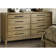American Drew Evoke 8 Drawer Dresser in Barley 509-130