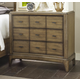 American Drew Evoke 3 Drawer Bachelor's Chest in Barley 509-422