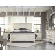 Magnussen Hancock Park 4-Piece Panel Bedroom Set in Weathered Oak / Vintage White