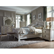 Magnussen Davenport 4-Piece Sleigh Bedroom Set in Weathered Parchment