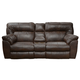 Catnapper Nolan Extra Wide Reclining Console Loveseat w/ Storage & Cupholder in Godiva