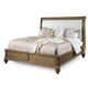 A.R.T Pavilion Eastern King Upholstered Sleigh Bed in Rustic Pine 229146-2608