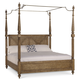 A.R.T Pavilion Eastern King Poster Bed with Canopy and Posts in Rustic Pine 229156-2608K1