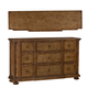 A.R.T. Pavilion 9 Drawer Breakfront Dresser in Rustic Pine 229131-2608