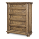 A.R.T. Pavilion 5 Drawer Breakfront Drawer Chest in Rustic Pine 229154-2608