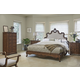 Fine Furniture Biltmore Collector's Room 4 Piece Tyrolean Upholstered Bedroom Set in Heirloom