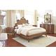 Fine Furniture Biltmore Collector's Room 4 Piece Tyrolean Panel Bedroom Set in Heirloom