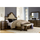 A.R.T Firenze II 4pc Upholstered Panel Bedroom Set in Rich Canella
