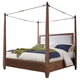 Coaster Donny Osmond Home Madeleine California King Canopy Bed in Smoky Acacia 203541KW