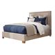 Coaster Donny Osmond Home Madeleine Eastern King Upholstered Panel Bed in Beige 300570KE