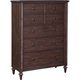 Broyhill Furniture Cranford 7-Drawer Chest in Deep-Brown 4800-240