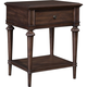 Broyhill Furniture Cranford Single-Drawer Nightstand in Deep-Brown 4800-291