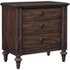 Broyhill Furniture Cranford 3-Drawer Nightstand in Deep-Brown 4800-293