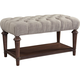 Broyhill Furniture Cranford Bed Bench in Deep-Brown 4800-295