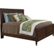 Broyhill Furniture Cranford Queen Panel Bed in Deep-Brown