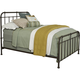 Broyhill Furniture Cranford King Metal Spindle Bed in Deep-Brown