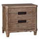 Coaster Donny Osmond Home Madeleine 2 Drawer Nightstand in Smoky Acacia 203542